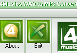 4Musics WAV to MP3 Converter 4.3 poster