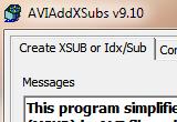 AVIAddXSubs 9.15 poster