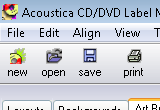 Acoustica CD / DVD Label Maker 3.32 poster
