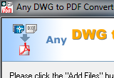 Any DWG to PDF Converter 2010 poster