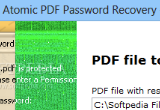 Atomic PDF Password Recovery 3.10 poster