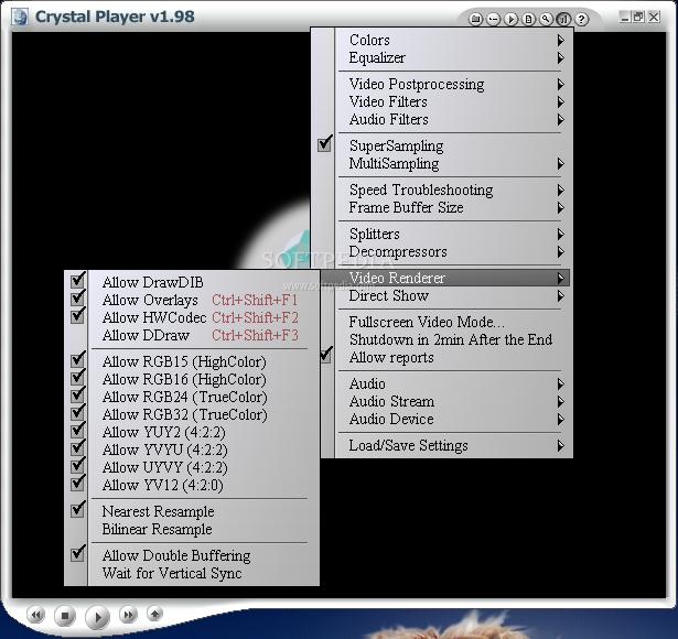 Crystal Player Professional 1.98 - видеопроигрыватель с расширенными возмож
