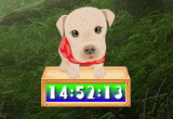 Cute Puppy Clock 1.2.4 poster