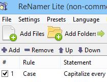 ReNamer Lite 5.76 / 6.0.0.7 Alpha poster