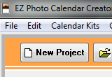 EZ Photo Calendar Creator 5.41 Build Date: 3-7-07 poster