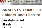 Flash Cookies Cleaner 1.2 poster