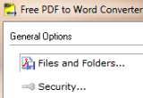Free PDF to Word Converter 2.0 poster