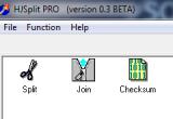 HJSplit PRO 0.3 Beta poster