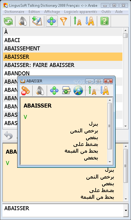 lingvosoft dictionary 2008 french arabic