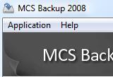 MCS Backup 2008 1.2 poster
