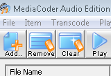 MediaCoder Audio Edition 0.7.2 Build 4540 poster