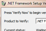 .NET Framework Setup Verification Utility 24-06-2014 poster