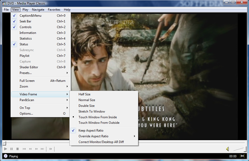 how to change the image in media player classic
