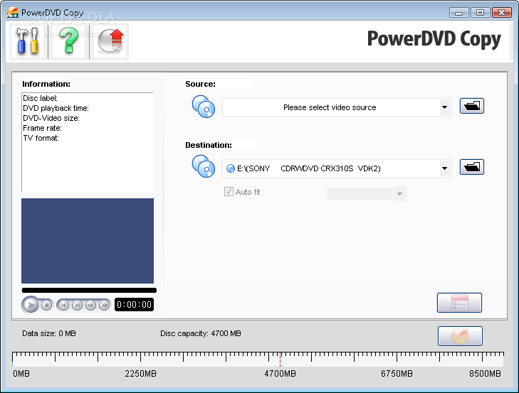 CyberLink PowerDVD Copy 1.00.6720 скачать бесплатно.