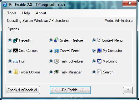 برنامج برنامج اصلاح جميع مشاكل الويندوز Re-Enable Portable, 2013 Re-Enable_1.png