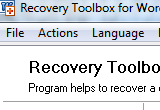 Recovery Toolbox for Word 2.0.0.0 poster