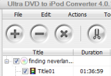 Ultra DVD to iPod Converter 4.0.1123 poster