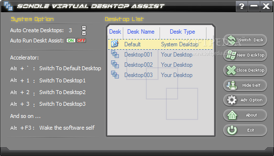 برنامج Virtual Desktop Assist لانشاء اكثر من سطح مكتب واضافة التاثرات