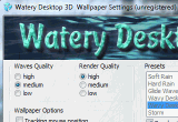 Watery Desktop 3D Screensaver 3.999 poster
