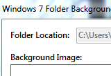 Windows 7 Folder Background Changer 1.1 poster