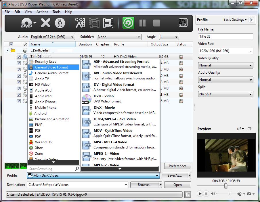 Xilisoft dvd ripper инструкция