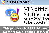 Y! Notifier 0.5.4 poster