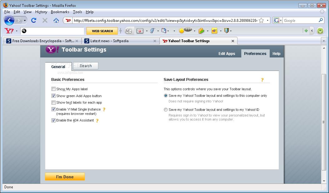 Yahoo Toolbar for Mozilla Firefox 2 Yahoo! Toolbar for Mozilla Firefox 4.0.1 Download Last Update