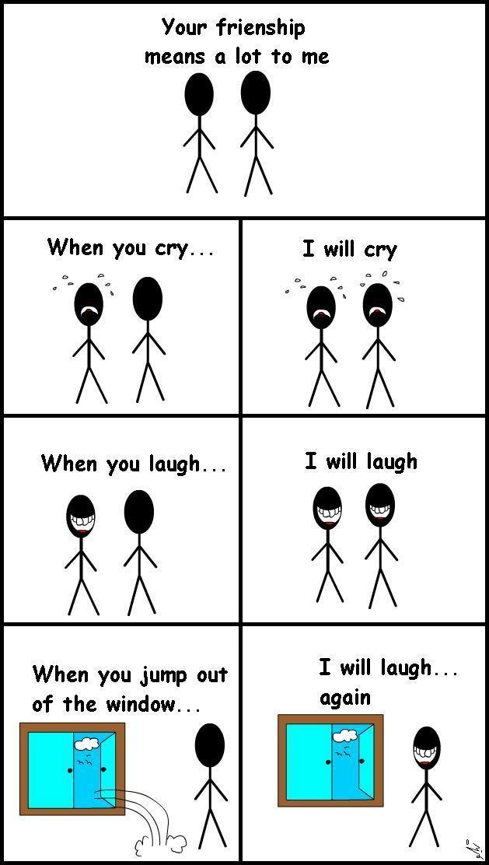 معنى الصداقة ! ( كاريكاتير معبر )
