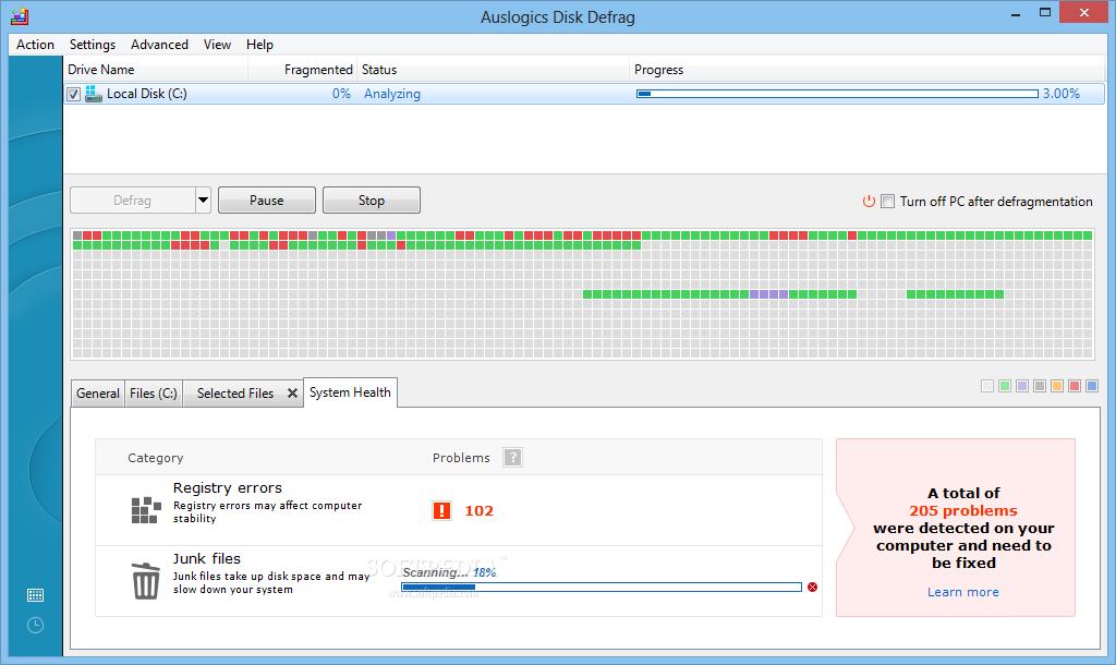 لتحسين اداء الجهاز واستقراره Auslogics Disk Defrag